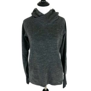 Women's Avalanche Fitted Hoodie Size Medium gray